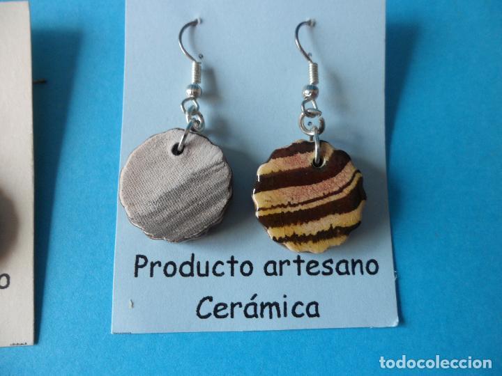 Artesanía: Bonitos y coquetos pendientes de Cerámica realizados a mano. Neriage o Marmolado - Foto 5 - 255522775