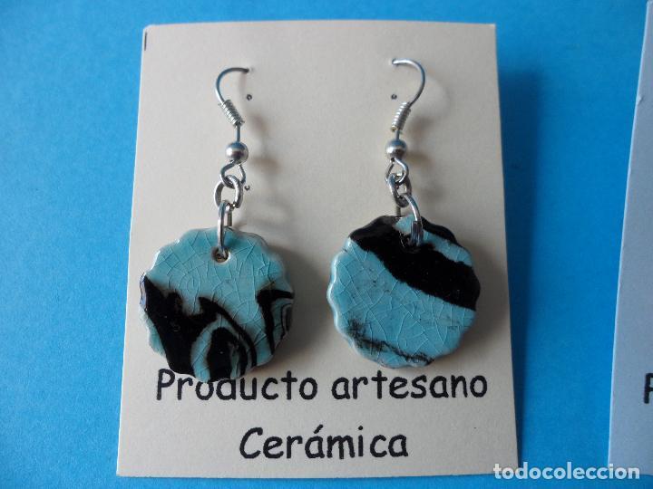 Artesanía: Bonitos y coquetos pendientes de Cerámica realizados a mano. Neriage o Marmolado - Foto 2 - 255523055