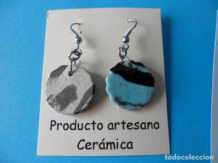 Artesanía: Bonitos y coquetos pendientes de Cerámica realizados a mano. Neriage o Marmolado - Foto 3 - 255523055