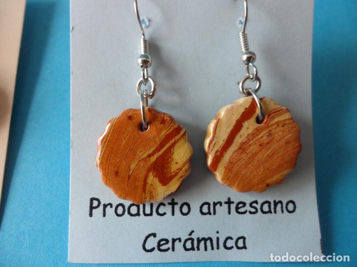 Artesanía: Bonitos y coquetos pendientes de Cerámica realizados a mano. Neriage o Marmolado - Foto 4 - 255523055