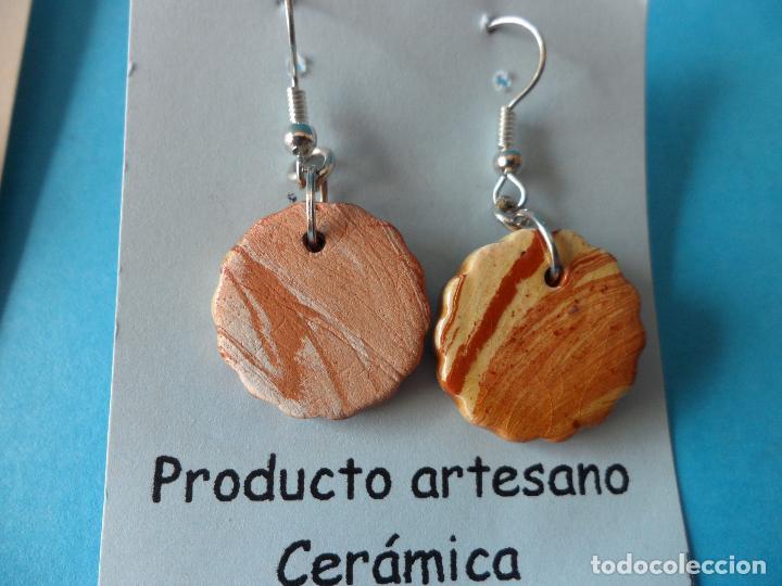 Artesanía: Bonitos y coquetos pendientes de Cerámica realizados a mano. Neriage o Marmolado - Foto 5 - 255523055