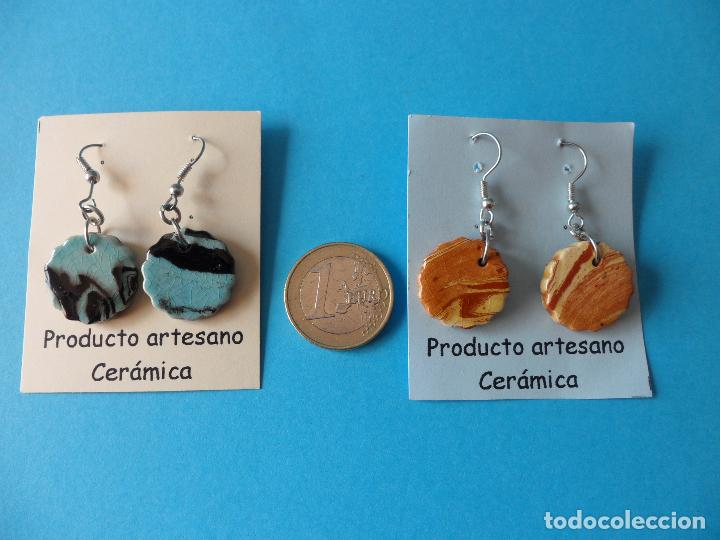 Artesanía: Bonitos y coquetos pendientes de Cerámica realizados a mano. Neriage o Marmolado - Foto 6 - 255523055