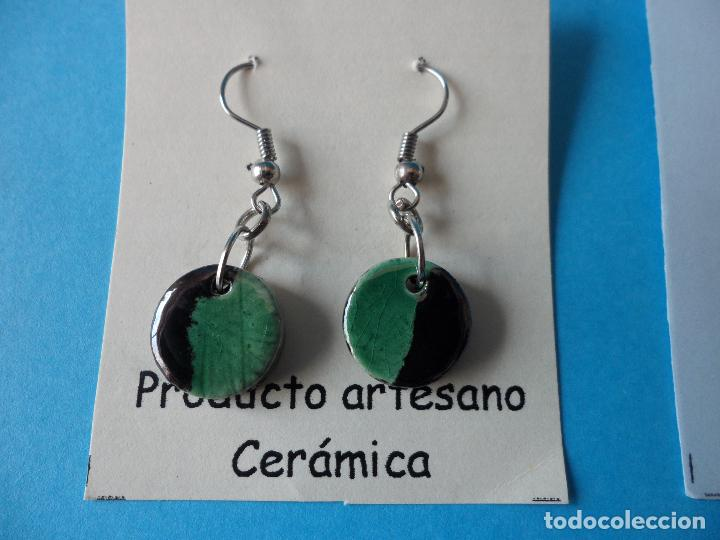 Artesanía: Bonitos y coquetos pendientes de Cerámica realizados a mano. Neriage o Marmolado - Foto 2 - 256048325