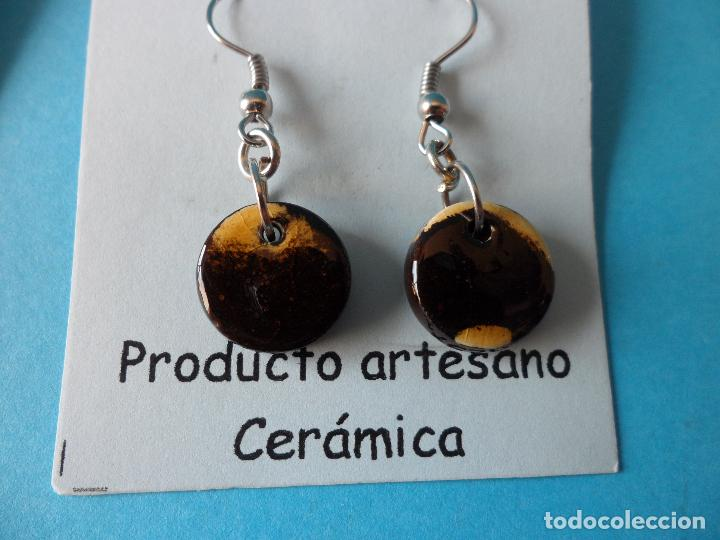 Artesanía: Bonitos y coquetos pendientes de Cerámica realizados a mano. Neriage o Marmolado - Foto 3 - 256048325