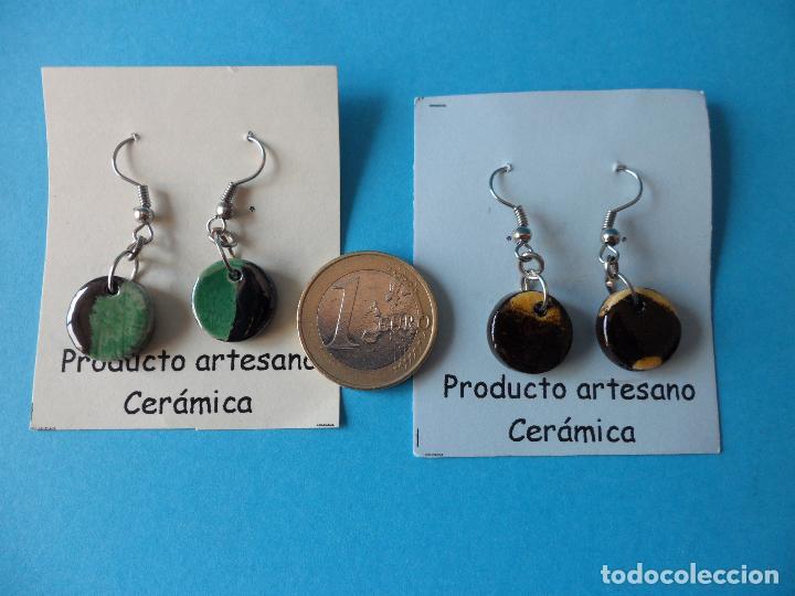 Artesanía: Bonitos y coquetos pendientes de Cerámica realizados a mano. Neriage o Marmolado - Foto 6 - 256048325