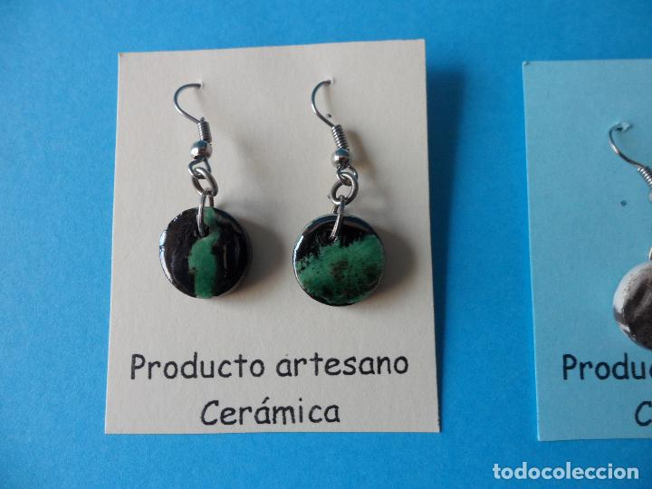 Artesanía: Bonitos y coquetos pendientes de Cerámica realizados a mano. Neriage o Marmolado - Foto 2 - 256048705