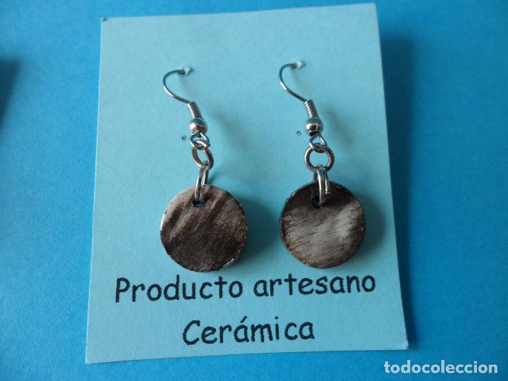 Artesanía: Bonitos y coquetos pendientes de Cerámica realizados a mano. Neriage o Marmolado - Foto 4 - 256048705