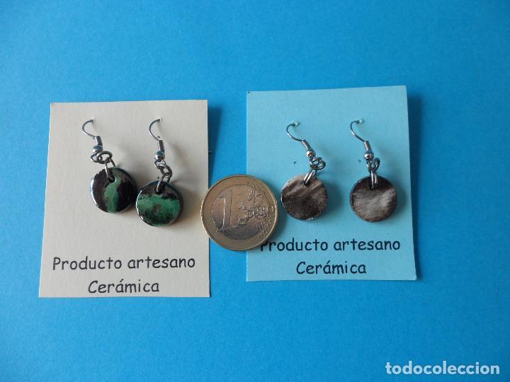 Artesanía: Bonitos y coquetos pendientes de Cerámica realizados a mano. Neriage o Marmolado - Foto 6 - 256048705