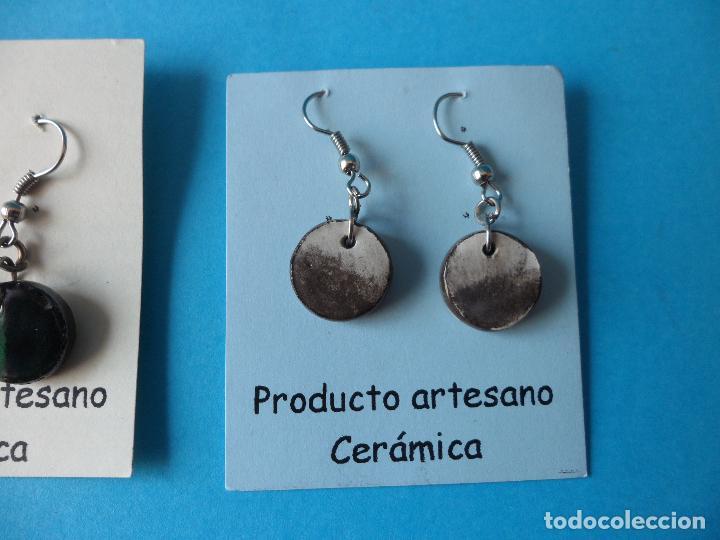 Artesanía: Bonitos y coquetos pendientes de Cerámica realizados a mano. Neriage o Marmolado - Foto 3 - 256049040