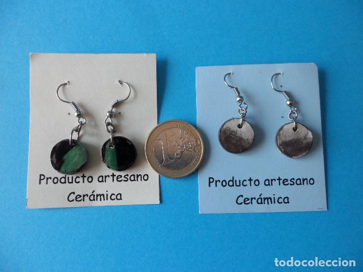 Artesanía: Bonitos y coquetos pendientes de Cerámica realizados a mano. Neriage o Marmolado - Foto 6 - 256049040