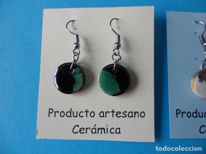 Artesanía: Bonitos y coquetos pendientes de Cerámica realizados a mano. Neriage o Marmolado - Foto 2 - 256049210