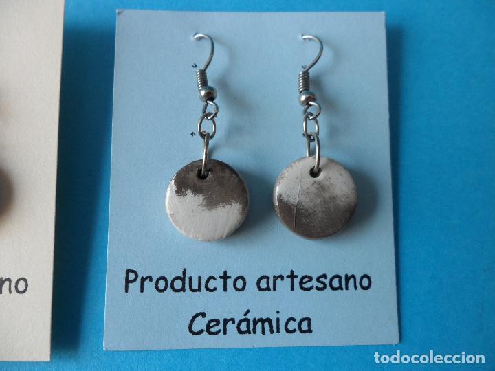Artesanía: Bonitos y coquetos pendientes de Cerámica realizados a mano. Neriage o Marmolado - Foto 3 - 256049210