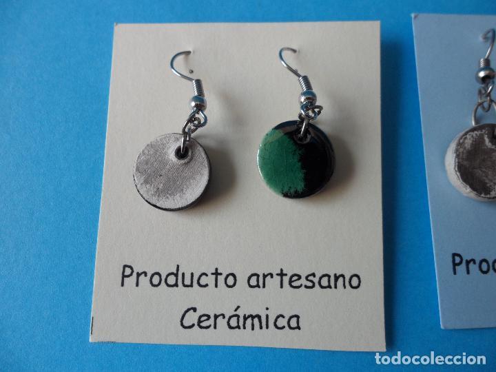 Artesanía: Bonitos y coquetos pendientes de Cerámica realizados a mano. Neriage o Marmolado - Foto 4 - 256049210