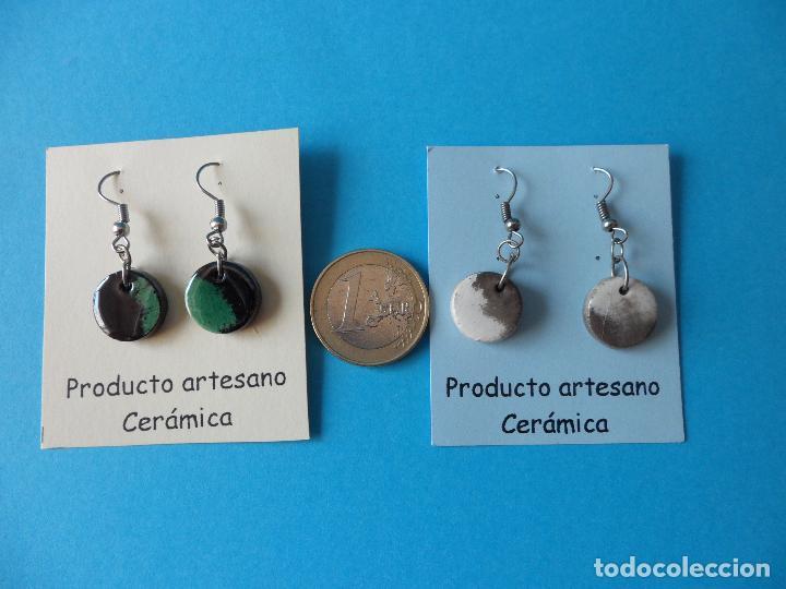 Artesanía: Bonitos y coquetos pendientes de Cerámica realizados a mano. Neriage o Marmolado - Foto 6 - 256049210