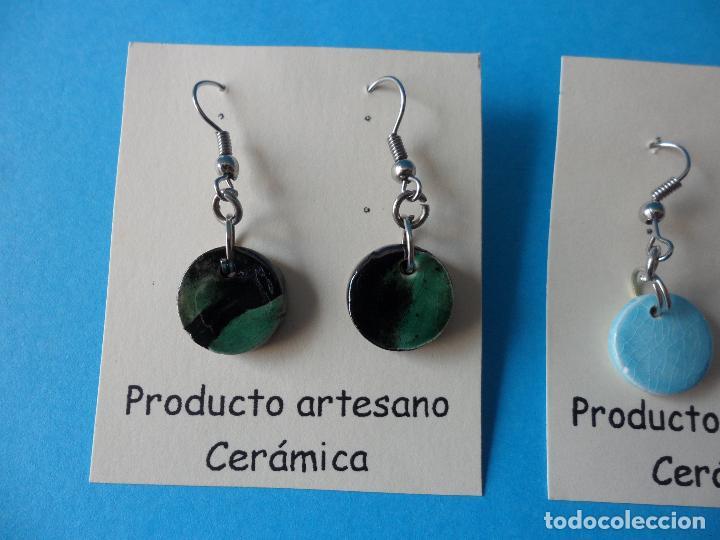 Artesanía: Bonitos y coquetos pendientes de Cerámica realizados a mano. Neriage o Marmolado - Foto 2 - 256051050