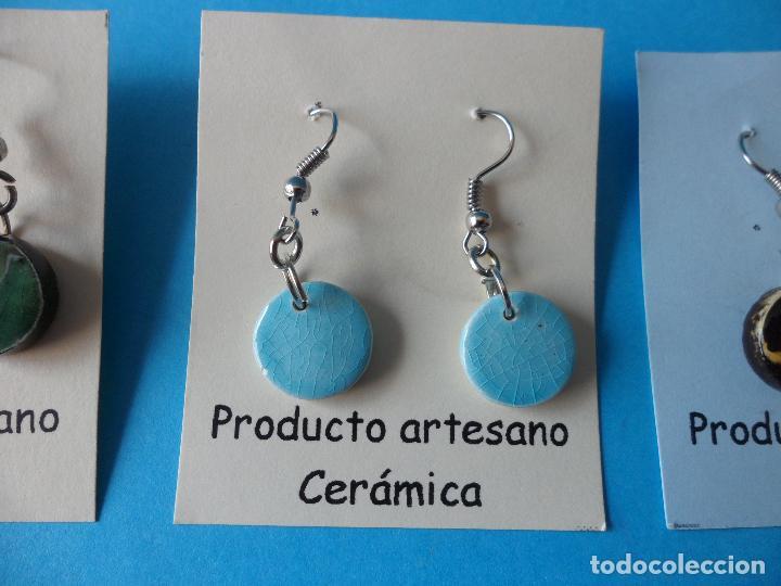 Artesanía: Bonitos y coquetos pendientes de Cerámica realizados a mano. Neriage o Marmolado - Foto 3 - 256051050