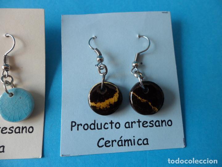 Artesanía: Bonitos y coquetos pendientes de Cerámica realizados a mano. Neriage o Marmolado - Foto 4 - 256051050