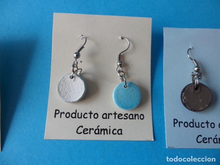 Artesanía: Bonitos y coquetos pendientes de Cerámica realizados a mano. Neriage o Marmolado - Foto 6 - 256051050