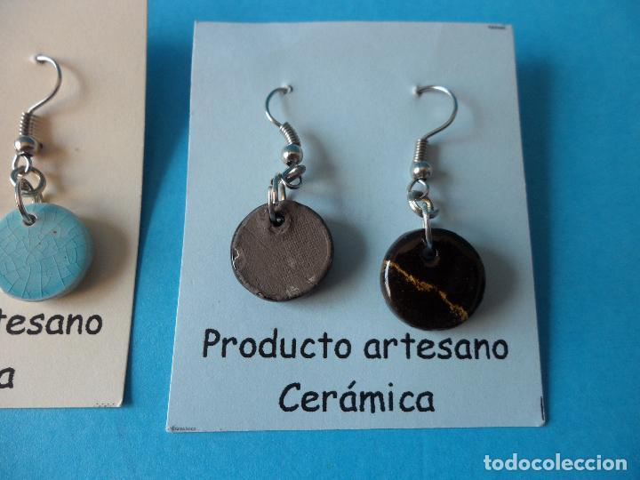 Artesanía: Bonitos y coquetos pendientes de Cerámica realizados a mano. Neriage o Marmolado - Foto 7 - 256051050