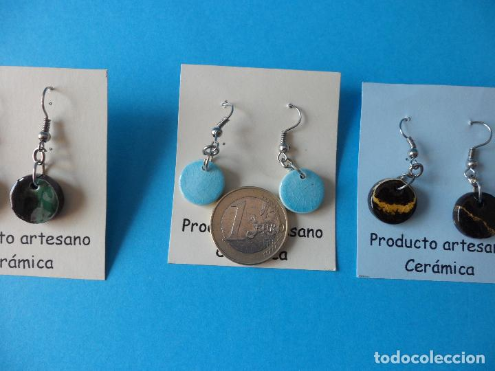 Artesanía: Bonitos y coquetos pendientes de Cerámica realizados a mano. Neriage o Marmolado - Foto 8 - 256051050