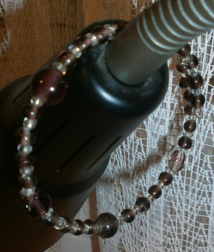 Artesanía: Pol 7 Pulsera acero memoria - Con cuentas cristal marrones - Sin usar - Foto 3 - 54725892