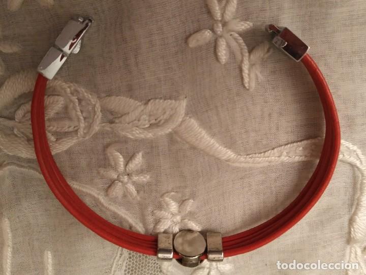 Artesanía: Pol 8 Pulsera cuero naranja con tres piezas acero y cierre acero - Foto 6 - 130196427