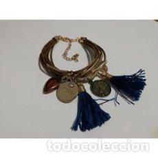 Artesanía: PULSERA DE CORDONES CUERO MARRON. Lote 138236690