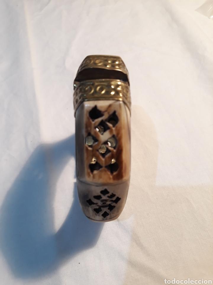 Artesanía: Arte africano, preciosa pulsera africana vintage,hueso tallado y metal. - Foto 2 - 150536926