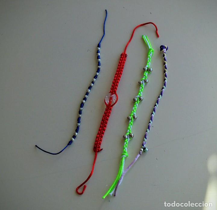 Artesanía: Lote 4 coloridas pulseras. Abalorios. Bisutería - Foto 2 - 152581378