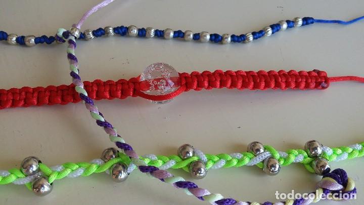 Artesanía: Lote 4 coloridas pulseras. Abalorios. Bisutería - Foto 3 - 152581378