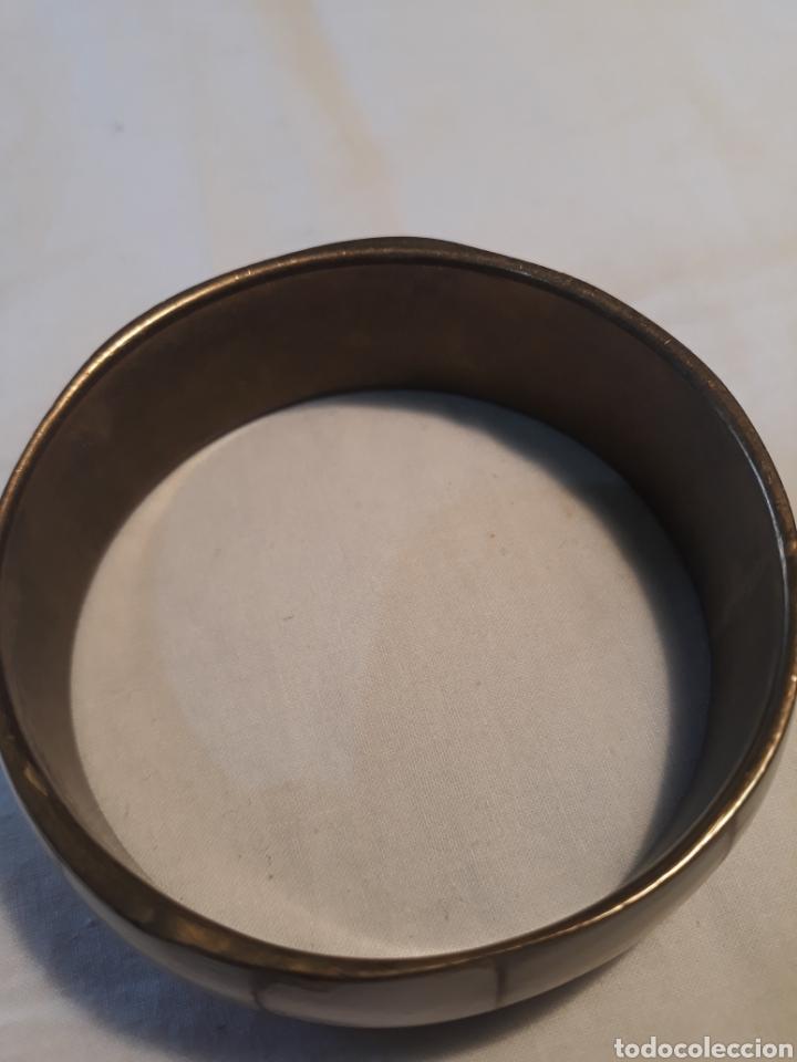 Artesanía: Arte africano.Pulsera africana vintage hueso e incrustacion de metal. - Foto 4 - 152896644