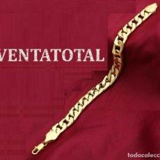 Artesanía: PULSERA VINTAGE TRENZADA DE ORO AMARILLO DE 24 KILATES LAMINADO PESO TOTAL 24,50 GRA - Nº152. Lote 178404556