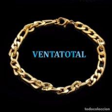 Artesanía: PULSERA VINTAGE TRENZADA DE ORO DE 18 KILATES LAMINADO PESO TOTAL 10,39 GRA - Nº158. Lote 158254022