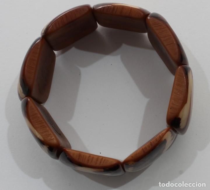 Artesanía: Bonita pulsera hecha de marfil vegetal, Nuez de Tagua procedente de Ecuador 001 - Foto 4 - 198377103