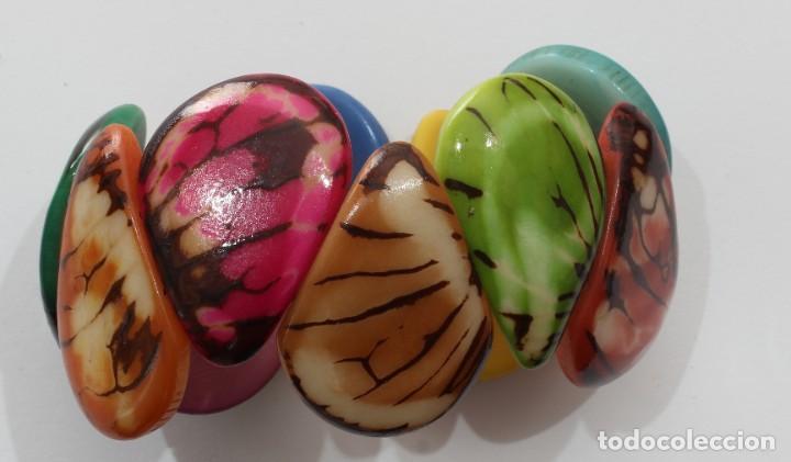 Artesanía: Bonita pulsera hecha de marfil vegetal, Nuez de Tagua procedente de Ecuador 002 - Foto 2 - 198377108