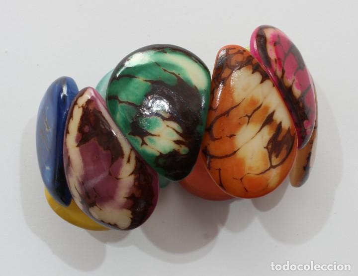 Artesanía: Bonita pulsera hecha de marfil vegetal, Nuez de Tagua procedente de Ecuador 002 - Foto 3 - 198377108