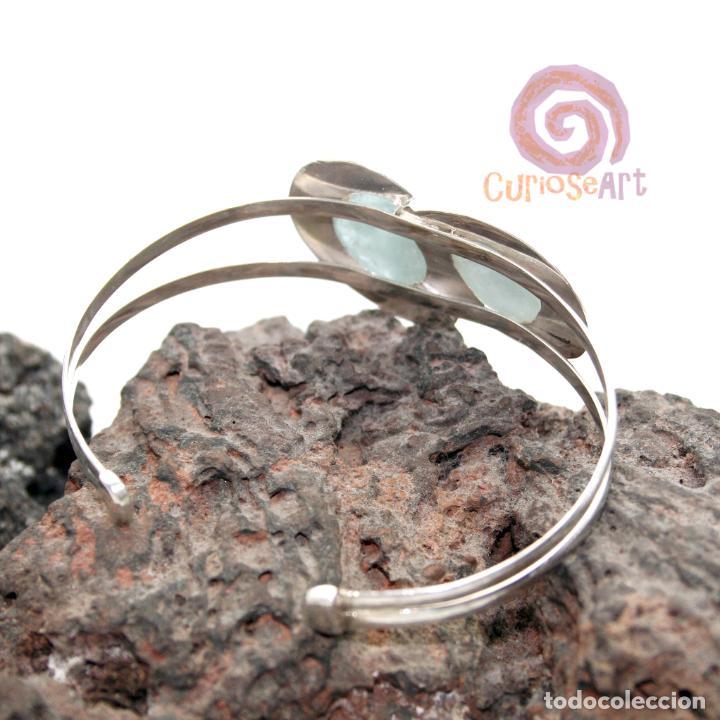 Artesanía: Pulsera de plata con dos piedras naturales AGUAMARINA - Foto 2 - 211436797
