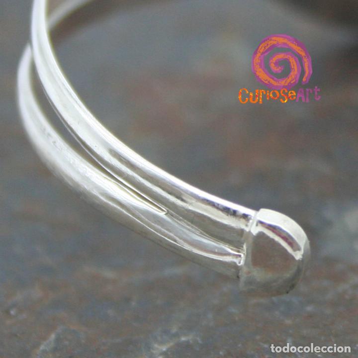 Artesanía: Pulsera de plata con dos piedras naturales AGUAMARINA - Foto 5 - 211436797