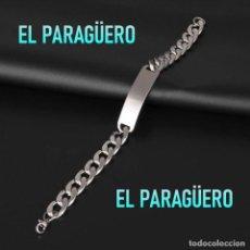 Artesanía: PULSERA ESCLAVA DE ORO BLANCO DE 18 KILATES LAMINADO MIDE 22 X 1 SU PESO ES 39 GRAMOS - P1. Lote 216909962