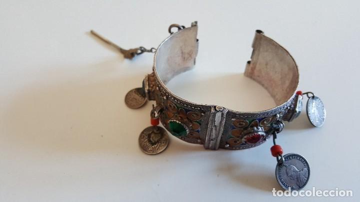 Artesanía: Original pulsera artesanía marroquí con plata y otros metales - Foto 2 - 219697477