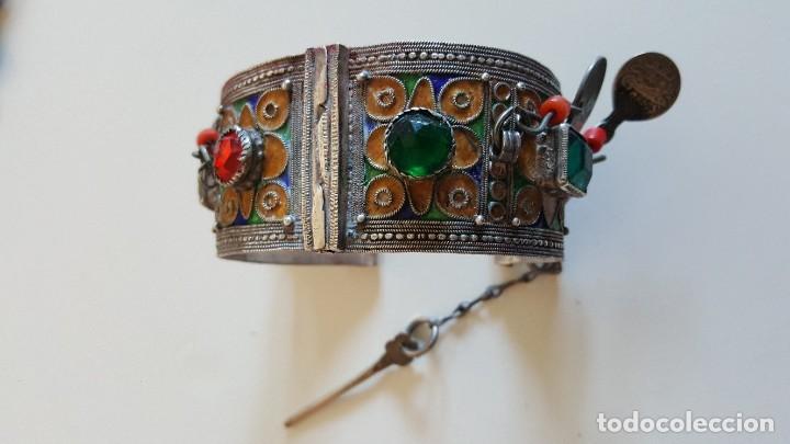 Artesanía: Original pulsera artesanía marroquí con plata y otros metales - Foto 3 - 219697477