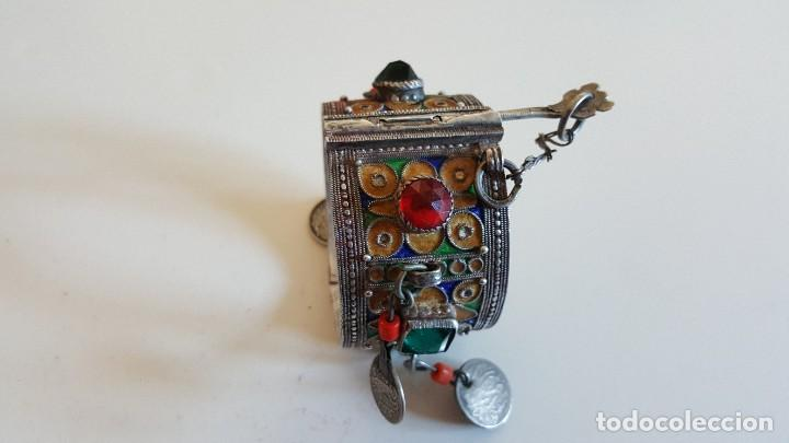 Artesanía: Original pulsera artesanía marroquí con plata y otros metales - Foto 4 - 219697477