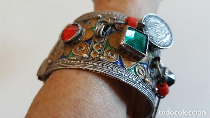 Artesanía: Original pulsera artesanía marroquí con plata y otros metales - Foto 6 - 219697477