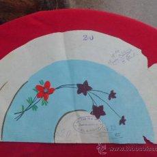 Artesanía: BOCETO DE ABANICO FLORES PINTADO A MANO VALENCIA . Lote 32943207