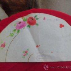 Artesanía: BOCETO FLORES ABAICO PINTADO A MANO HECHO EN VALENCIA. Lote 32943707