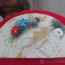 Artesanía: BOCETO FLORAL PINTADO A MANO ABANICO VALENCIA. Lote 32944163
