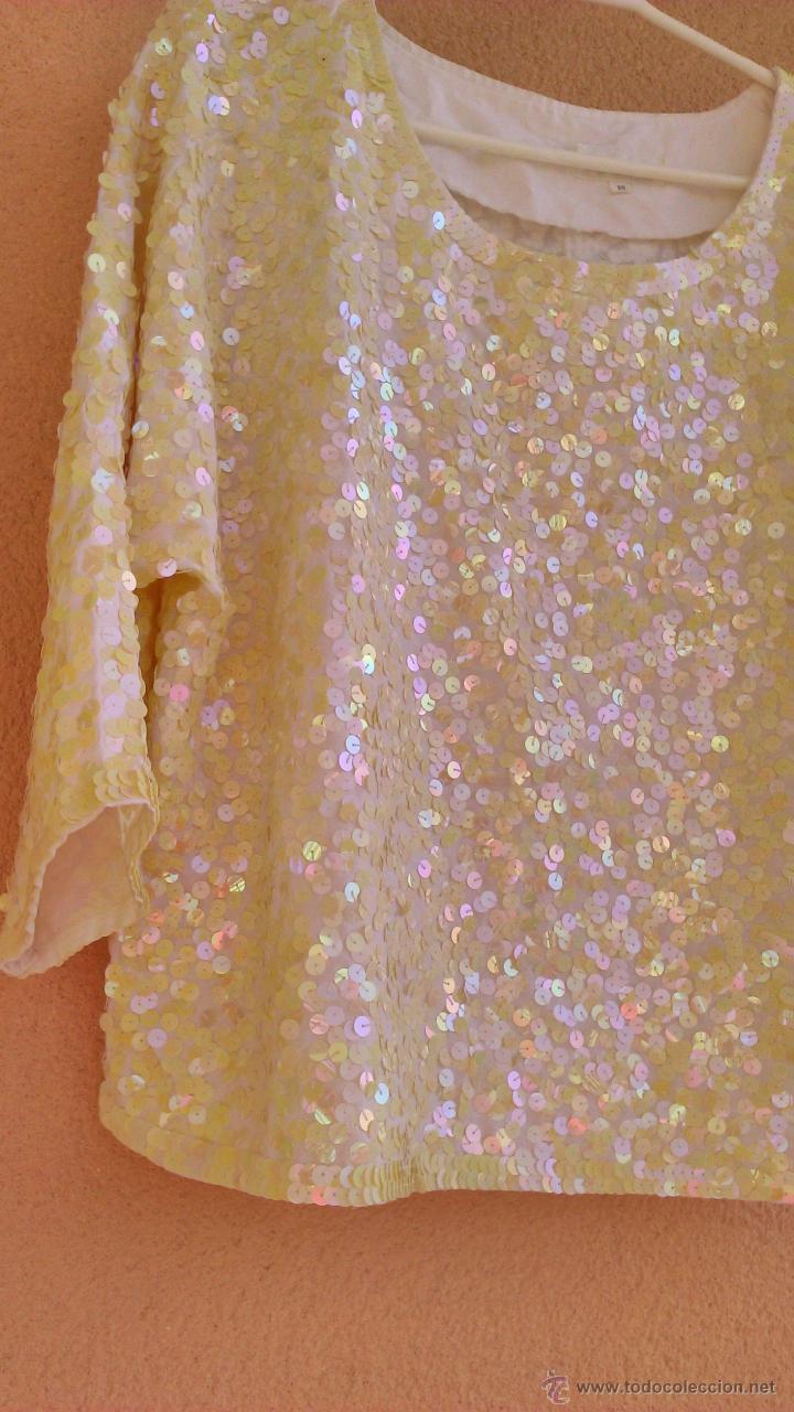 Artesanía: Bonita blusa de fiesta con lentejuelas.Las lentejas están cosidas a mano.LAST SCENE.Talla M - Foto 4 - 46001068