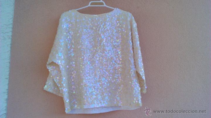 Artesanía: Bonita blusa de fiesta con lentejuelas.Las lentejas están cosidas a mano.LAST SCENE.Talla M - Foto 5 - 46001068