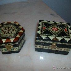Artesanía: LOTE DOS JOYEROS DE TARACEA. Lote 46010729