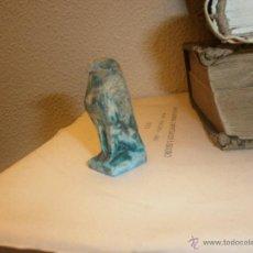 Artesanía: ESCULTURA EN PIEDRA PAJARO DIOS EGIPTO 5 CM. . Lote 46954957